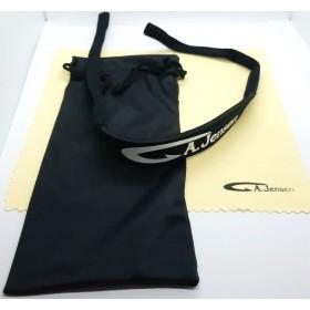 Pudseklud, rem og stofpose til solbriller