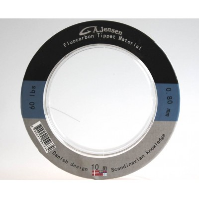 0,60 mm Fluoro Carbon Tippet Material - Gedde Leader
